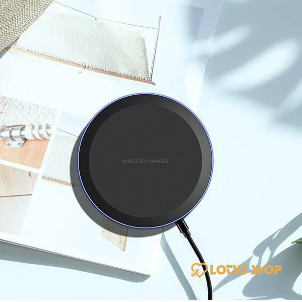 Round Shaped Qi Wireless Charger for Smartphones Accessories Chargers Mobile Phones color: 10W|5W
