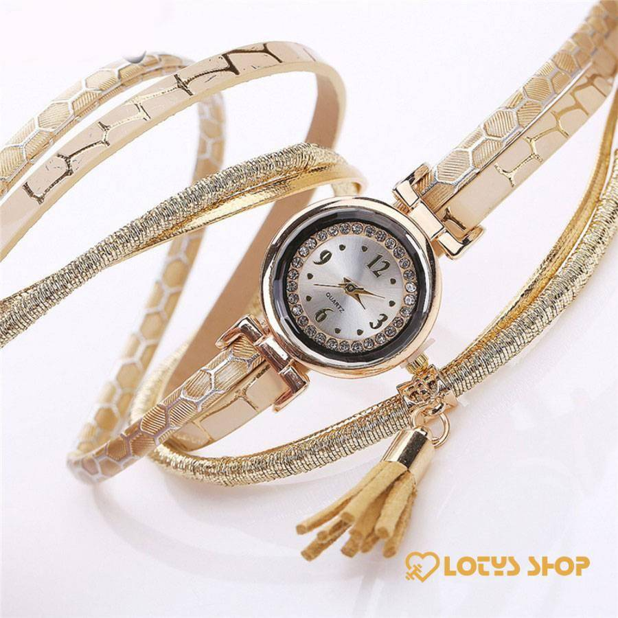 Women's Multilayered Leather Bracelet Watch Accessories Watches Women's watches color: Beige|Black|Grey|Mint Green|Red|White