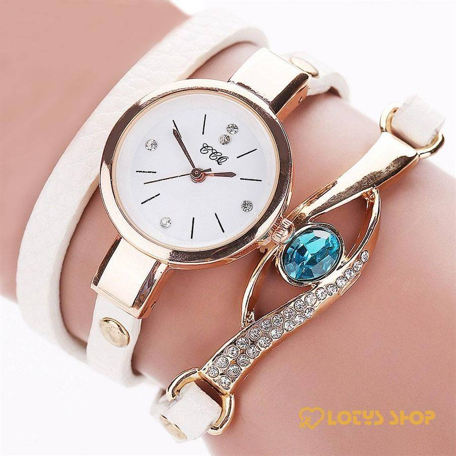 Women's Eye Gemstone Watch Accessories Watches Women's watches color: Black|Blue|Brown|Light Blue|Red|Rose red|White