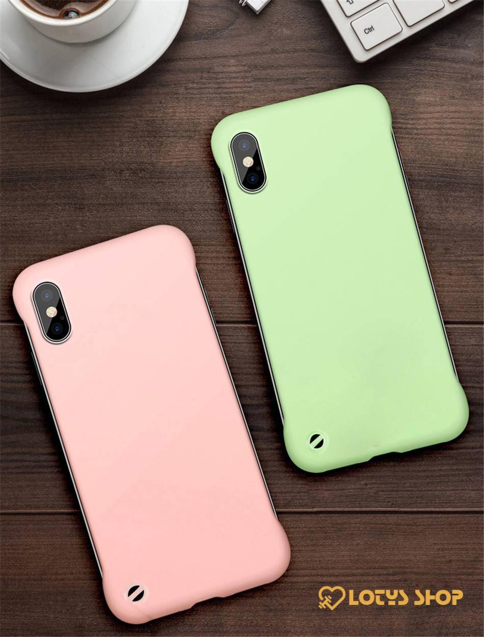 Slim Solid Color Hard Phone Case for iPhone