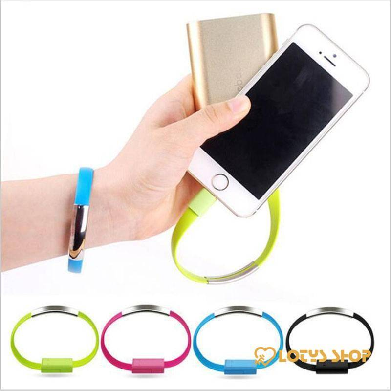 Bracelet USB Charger Cable for iPhone Accessories Cables Mobile Phones color: Black Blue Gray Green rose White