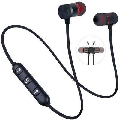 Magnetic Bluetooth Sports Headphones Accessories Headphones Mobile Phones color: Black|Red