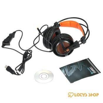 Stereo Wired Gaming Headphones Accessories Headphones Mobile Phones color: Black Orange|Pink