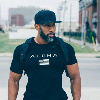 Men's Alpha Print Sports T-Shirt Men's sport items Men's t-shirts Sport items color: