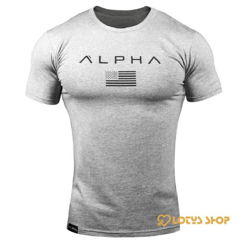 Men's Alpha Print Sports T-Shirt Men's sport items Men's t-shirts Sport items color: