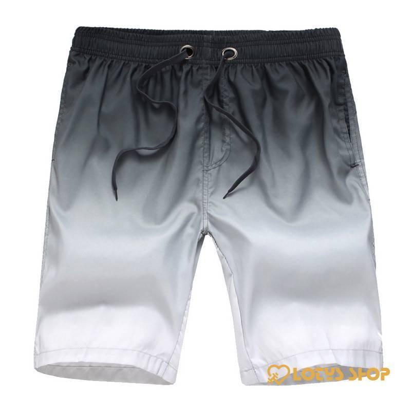 Men's Gradient Knee Length Sports Shorts