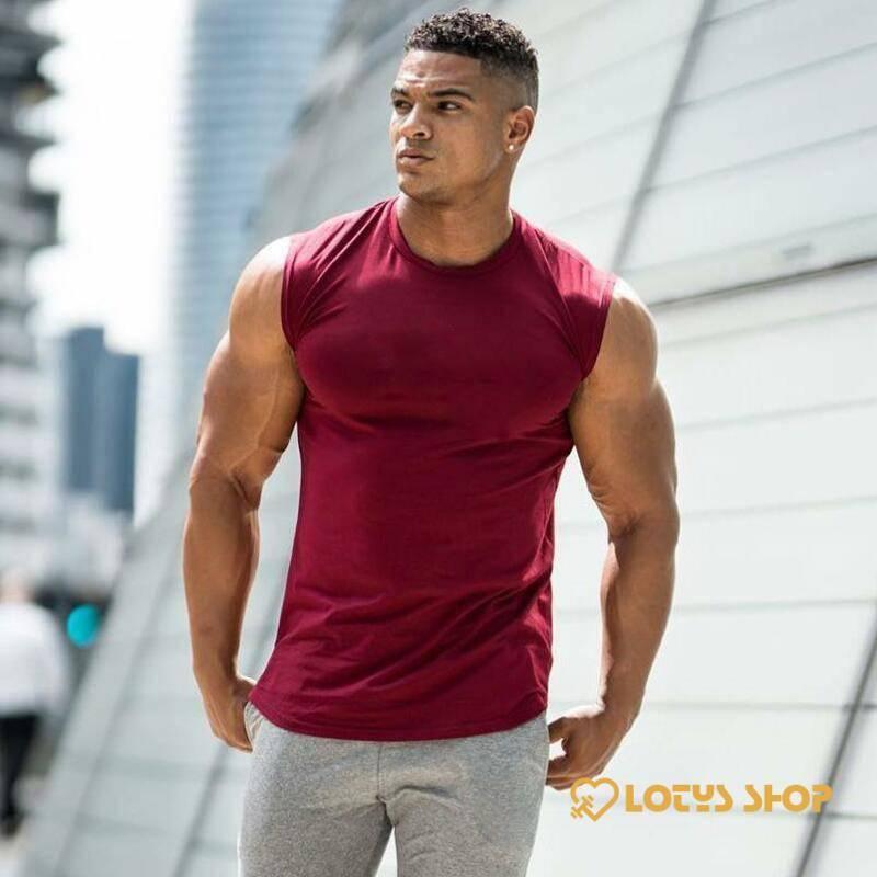 Men's Solid Color Sport Tank Top
