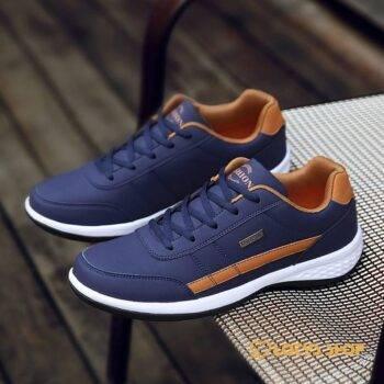 Men's Sport Leather Comfortable Shoes Men Sport Shoes Men's sport items Sport items color: Black|Blue|White