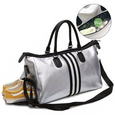 Women's Travel Sports Shoulder Bag Accessories Bags and Luggage Women's Bags and Luggage color: black stripe|red stripe