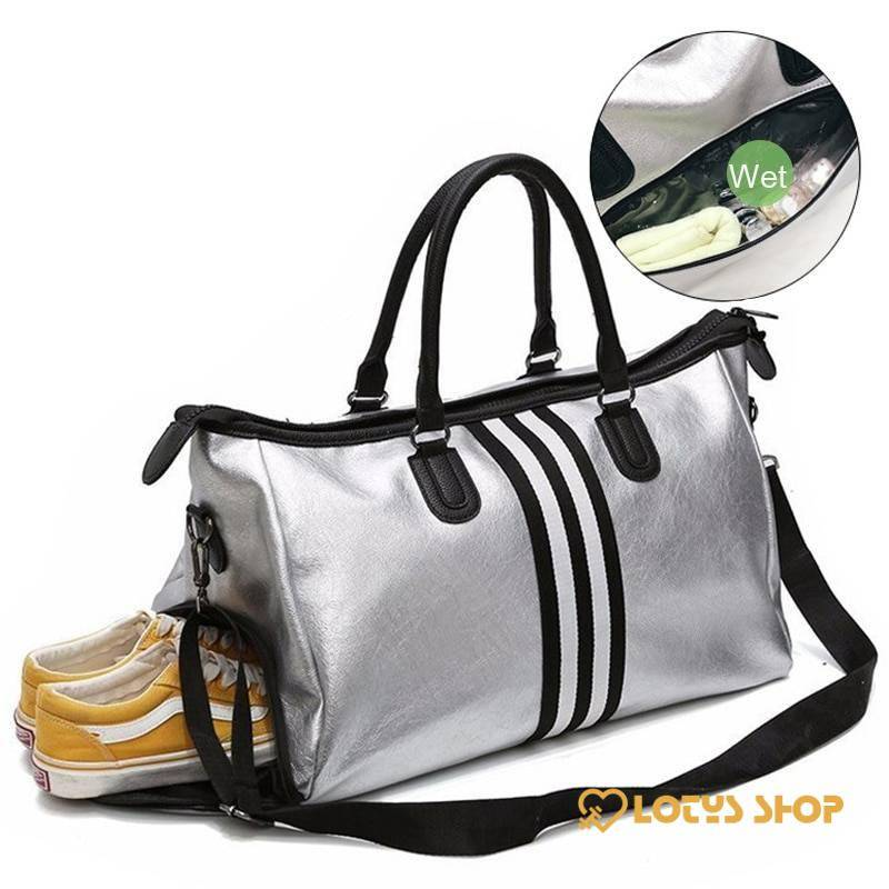 Women's Travel Sports Shoulder Bag Accessories Bags and Luggage Women's Bags and Luggage color: black stripe|red stripe