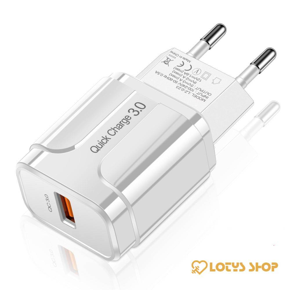 Quick Charge USB Phone Charger Accessories Chargers Mobile Phones a1fa27779242b4902f7ae3: EU Black|EU White|US Black|US White