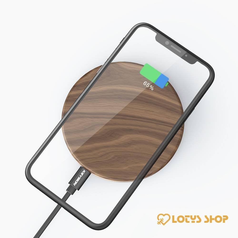 Universal Wooden Qi Wireless Charger for Phone Accessories Chargers Mobile Phones color: Brown