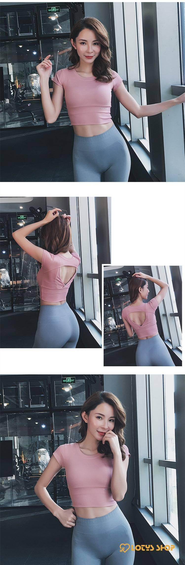 Women's Sport T-Shirt with Back Cut
