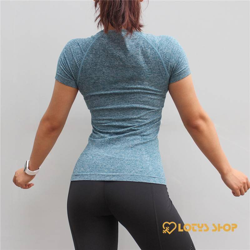 Women's Solid Color Compression Sports T-Shirt Sport items Women's sport items Women's T-Shirts color: Blue|Gray|Pink|Purple