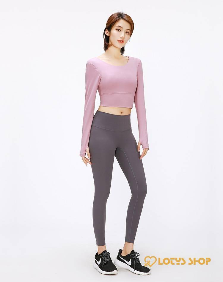 Back Straps Women's Yoga Crop Tops
