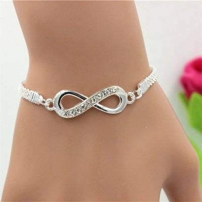 Women's Silver Infinity Chain Bracelet Accessories Jewelry Fine or Fashion: Fashion