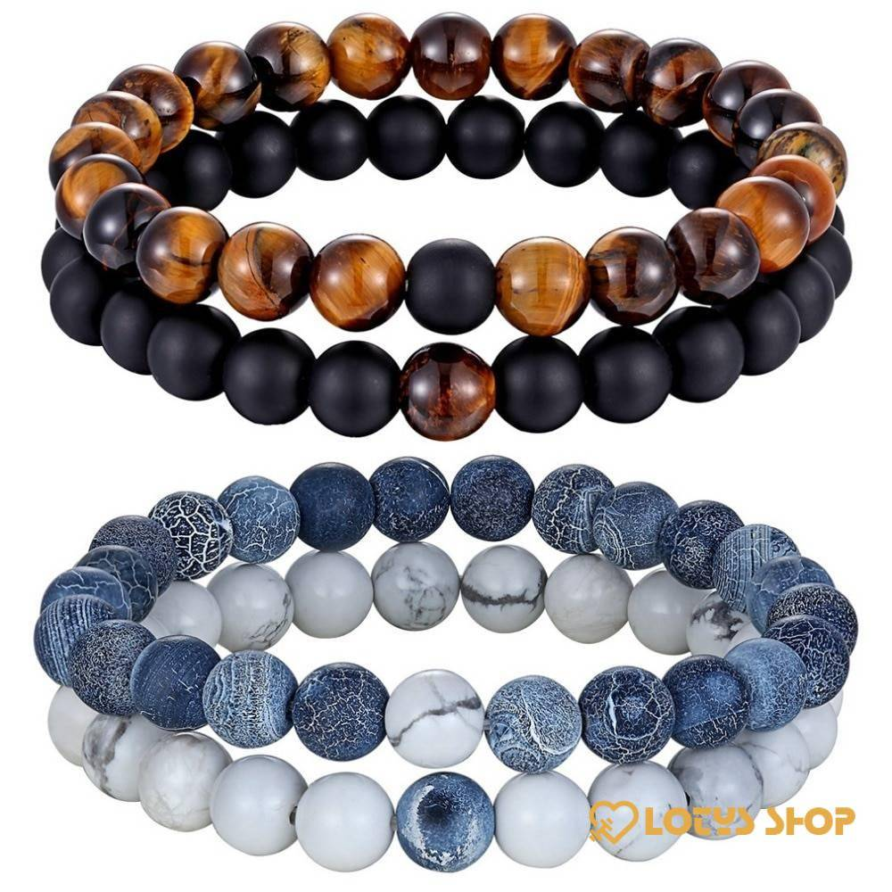 Natural Stone Beaded Bracelets Pair for Couples Accessories Jewelry a1fa27779242b4902f7ae3: 1|2|3|4|5|6|7