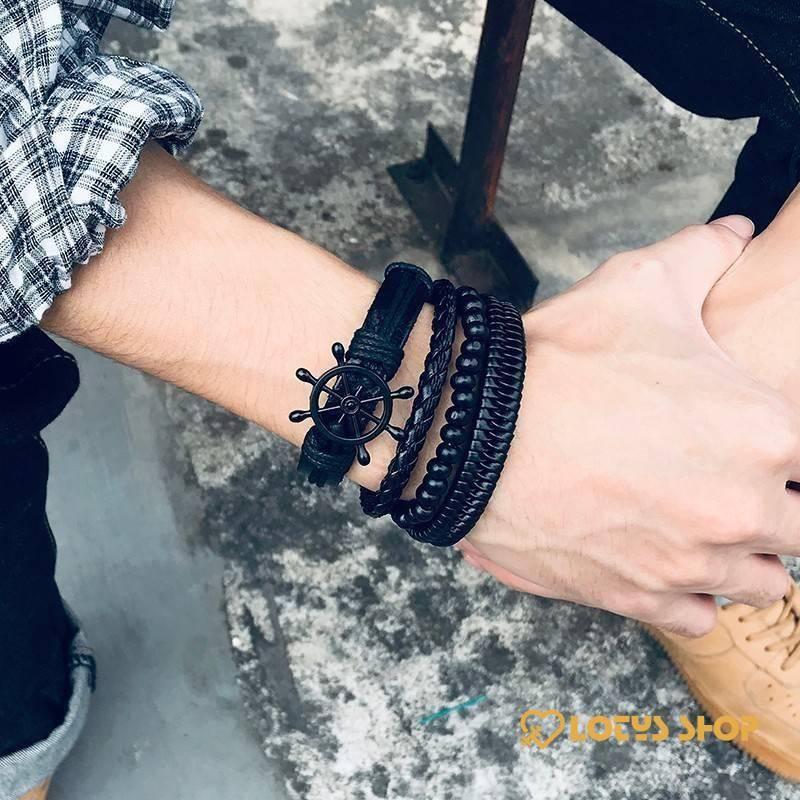 Women's Braided Leather Bracelets Set Accessories Jewelry 8d255f28538fbae46aeae7: BL-387|BL-388|BL-426|BL-427|BL-449|BL-450|BL-453|BL-459|BL-466|BL-472B|BL-472ZB|BL-473|BL-491|BL-541B|BL-551|BL-565B