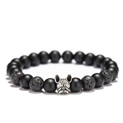 French Bulldog Matte Bracelet Accessories Jewelry color: Antique Gold|Antique Silver|Bronze
