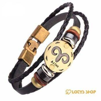 Men's Zodiac Sign Leather Charm Bracelet Accessories Jewelry d0c31fe4ee57826486d441: Aquarius|Aries|Cancer|Capricorn|Gemini|Leo|Libra|Pisces|Sagittarius|Scorpio|Taurus|Virgo