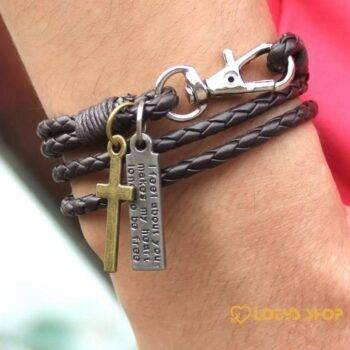 Men's Cross Charm Braided Leather Bracelet Accessories Jewelry 054b4f3ea543c990f6b125: Style 1|Style 2|Style 3|Style 4|Style 5|Style 6|Style 7|Style 8|Style 9