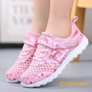 Comfortable Mesh Sports Shoes For Girls Kids sport items Sport items color: Pink|Purple