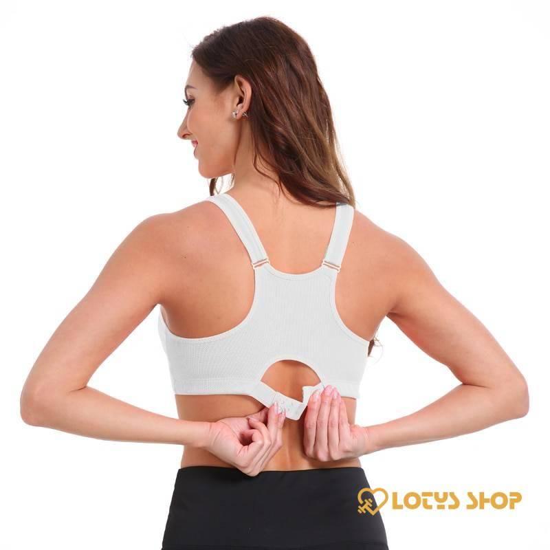 Women's Sports Bra with Frontal Zipper Sport items Sports Bras Women's sport items color: Black|Blue|Grey|Orange|Purple|Rose red|White