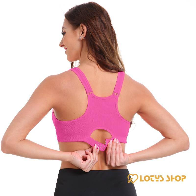 Women's Sports Bra with Frontal Zipper