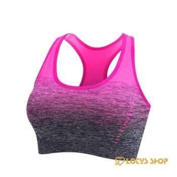 Women's Gradient Padded Sports Bra Sport items Sports Bras Women's sport items color: Green Pink Rose red Violet