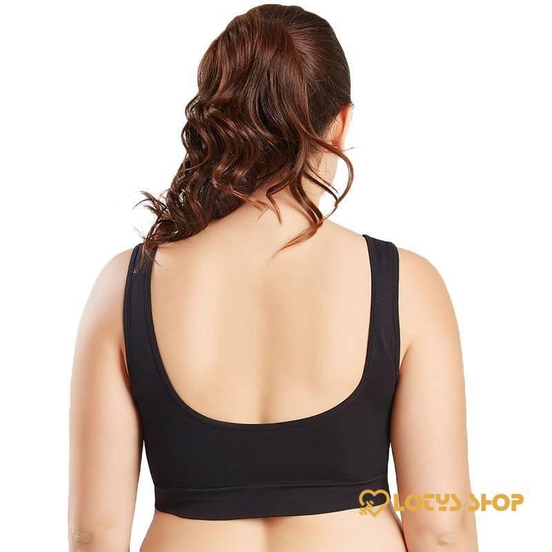 Breathable Plus Size Sports Bra Sport items Sports Bras Women's sport items color: Beige Black White