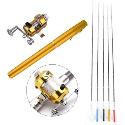 Pocket Fishing Rod Best Seller Outdoor Sports color: Black|Blue|Purple|Red|White|Yellow