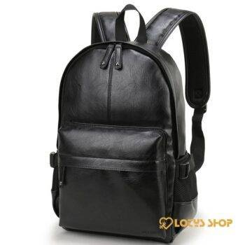 Men's Solid Color Eco-Leather Backpack Accessories Bags and Luggage Men's Bags and Luggage color: Black|Chocolate