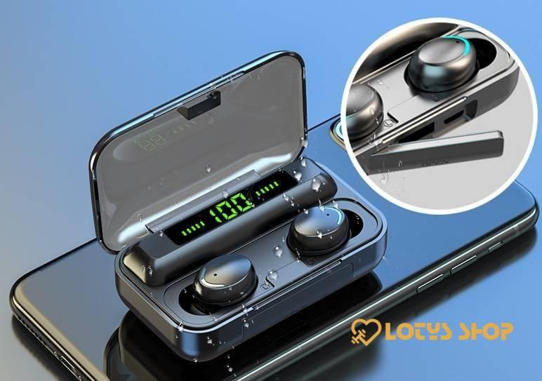Trendy Waterproof Wireless Bluetooth Earphones Accessories Headphones Mobile Phones color: A|B|C|D