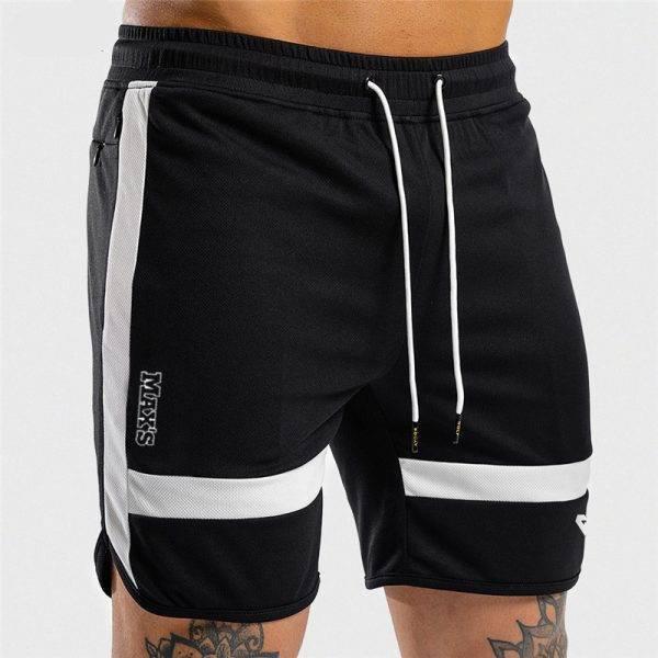 Men's Fitness Training Shorts Men's shorts Men's sport items Sport items color: Black|White