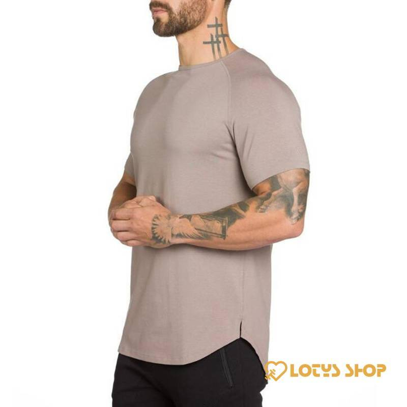 Men's Solid Color Cotton Fitness T-Shirt Men's sport items Men's t-shirts Sport items color: Army Green|Black|Gray|Khaki|White
