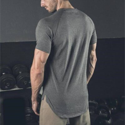 Men's Solid Color Cotton Fitness T-Shirt Men's sport items Men's t-shirts Sport items color: Army Green Black Gray Khaki White