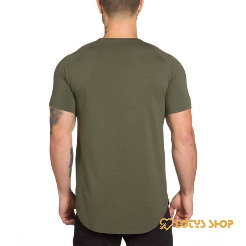 Men's Solid Color Cotton Fitness T-Shirt