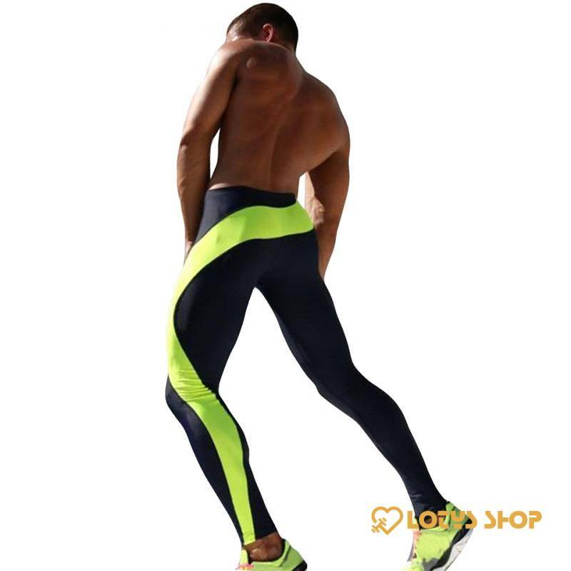 Men's Fitness Compression Pants Men's sport items Sport items color: Blue|Green