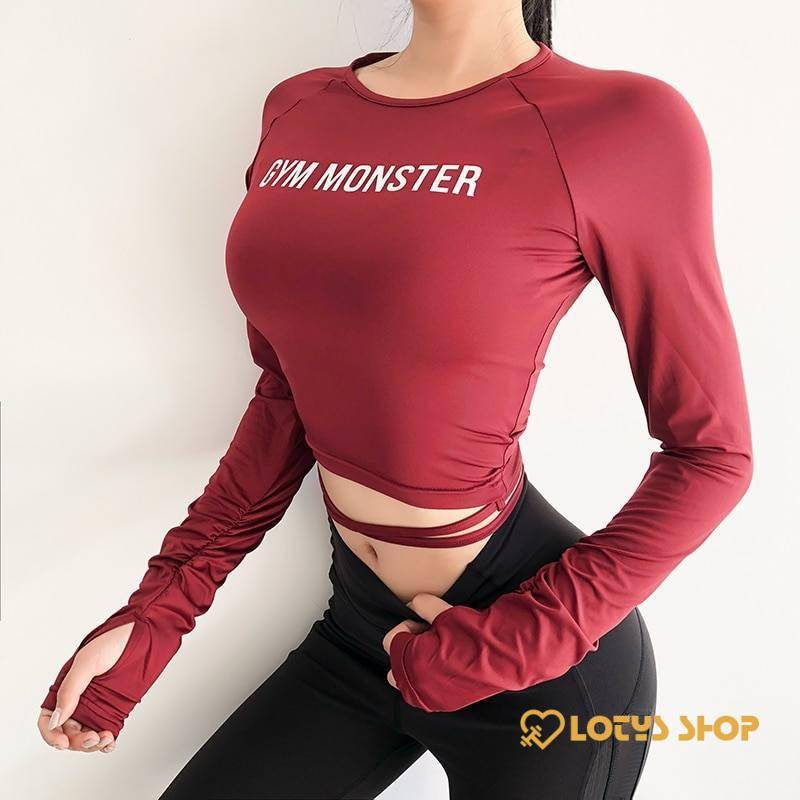 Women's Colorful Long Sleeve Fitness T-Shirt Sport items Women Sport Tops Women's sport items Women's T-Shirts color: Black|Camouflage|Pink|Red