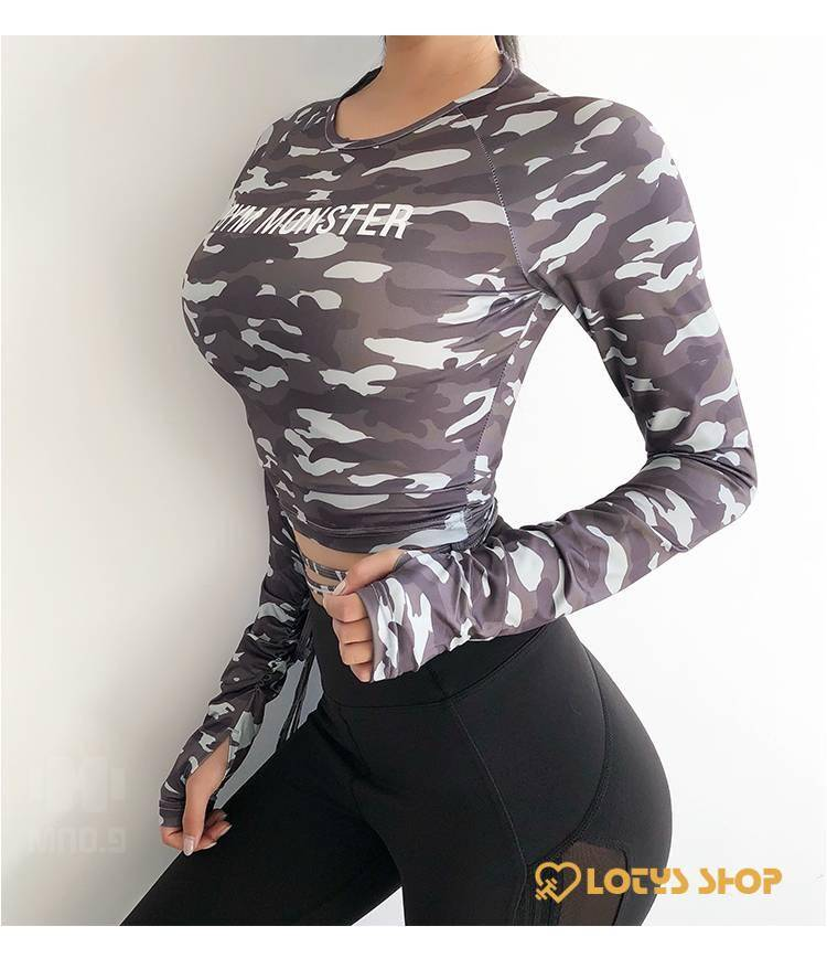 Women's Colorful Long Sleeve Fitness T-Shirt