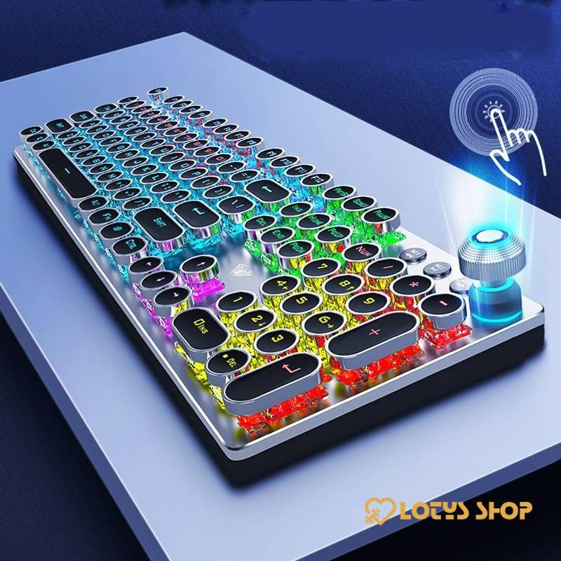 Steampunk Style Mechanical Gaming Keyboard Gaming & Entertainment color: Normal version black|Punk black|Punk Multifunct blac|Punk Multifunct whit|Punk white