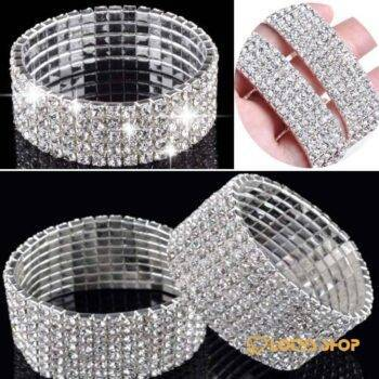Fashion Rhinestone Crystal Elastic Bracelets Accessories Jewelry color: 1|2|3|4|5|6|7|8