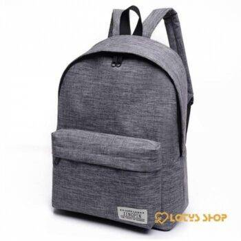 Men's Canvas Backpack For Laptop Accessories Jewelry color: Black|Blue|Grey|Red