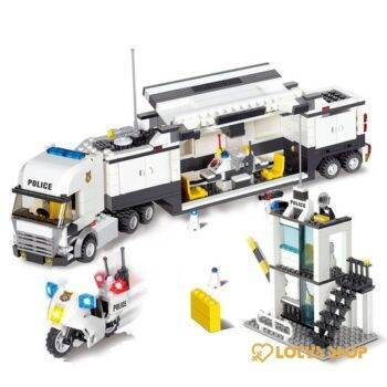 City Street Police Station Lego Truck Toys color: 6726 With Box|6726 Without Box|6727 With Box|6727 Without Box