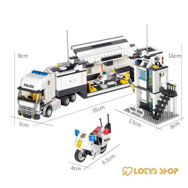 City Street Police Station Lego Truck Toys color: 6726 With Box|6726 Without Box|6727 With Box|6727 Without Box