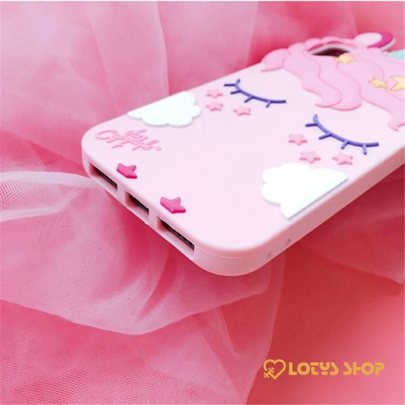 3D Unicorn Phone Cases Accessories Cases Mobile Phones color: Pink