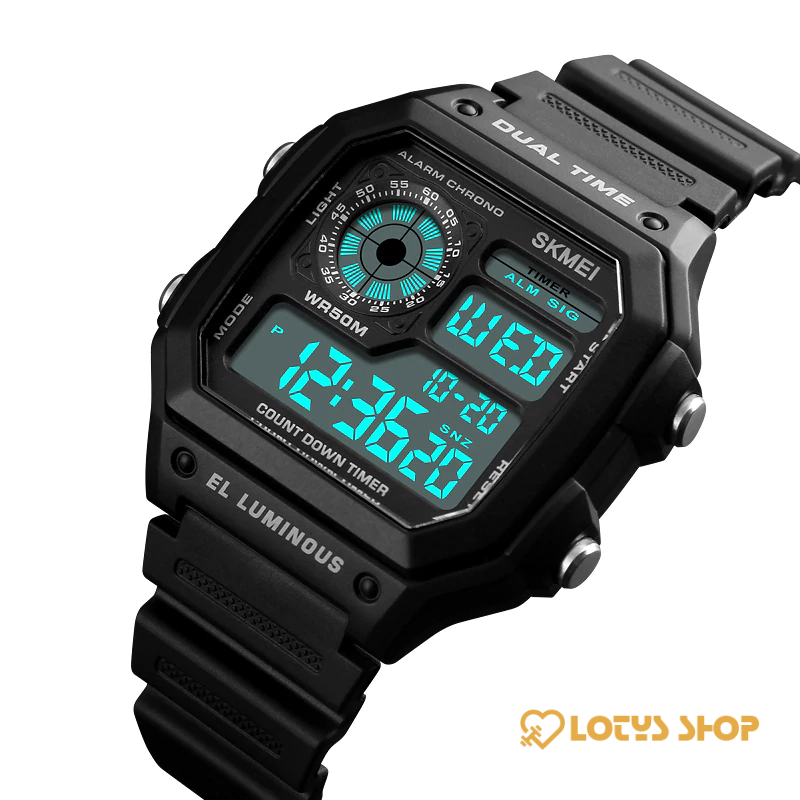 Sports Watches for Men with Digital Movement and LED Display Accessories Men's watches Watches color: Black|Blue|Green|Red