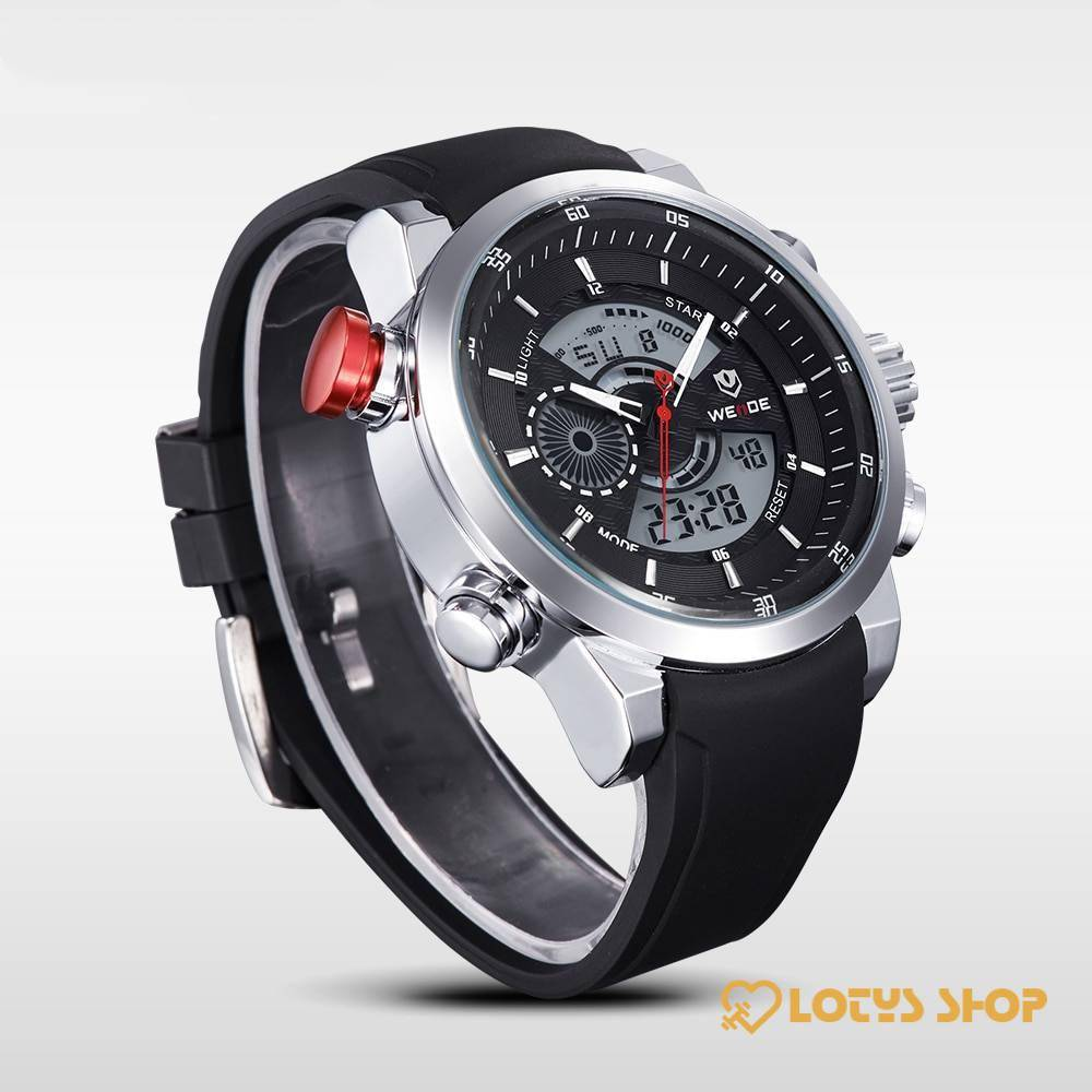 Men's Waterproof Sports Watch Accessories Men's watches Watches color: All Black Black Dial Blue Hands Red Hands White Dial Yellow Hands