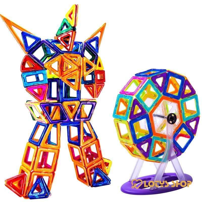 Kid& Magnetic Building Blocks Kit Toys Toys color: 110 pcs|110 pcs with Box|128 pcs|128 pcs with Box|142 pcs|142 pcs with Box|184 pcs|184 pcs with Box|252 pcs|252 pcs with Box
