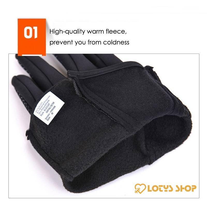 Anti-Slip Warm Touchscreen Cycling Gloves Outdoor Sports color: Black|Dark Blue|hot pink|Orange|Purple|Sky Blue